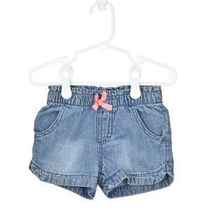 Cherokee Cotton Medium Wash Denim Shorts